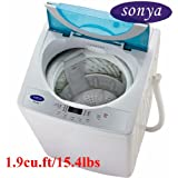 Sonya Compact Portable Apartment Small Washing Machine Washer 1.9cuft./15.4lbs/free Casters Included