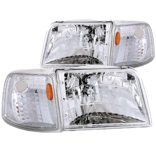Anzo Usa 111119 Ford Ranger Clear With Amber Corners Headlight Assembly - (Sold In Pairs)