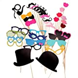 36pcs Wedding Props On A Stick Mustache Photo Booth Funny Halloween Party