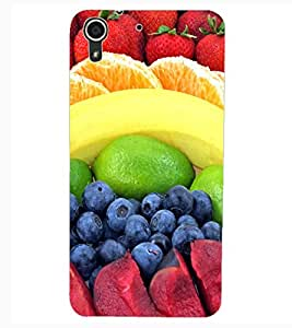ColourCraft Fruits Design Back Case Cover for HTC DESIRE 626