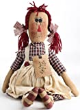19 Inch Tall Raggedy Elsie Doll - Vintage Look Rag Doll - Finished Product