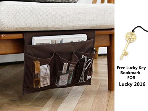 HAKACC Bedside Storage Organizer,Sofa Storage Organizer,Table cabinet Storage Organizer,1 Free Lucky Key Bookmark For Your Lucky 2016,Brown (Side Of The Bed Storage compare prices)