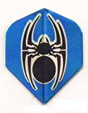 5 Sets 36435 AmeriThon AmeriThon BlueBlack Tribal Spider Metallic Dart Flights