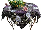 Passion list(パッションリスト) カットワーク 刺繍 テーブルクロス 花柄 紫