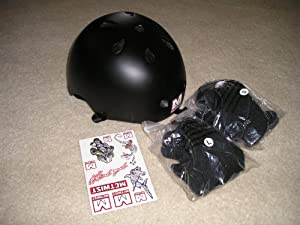 MagaMallGroup McTwist Skate Boarding helmet set - one size fits all - includes knee and elbow pads - Mike Mc Gill style at Sears.com