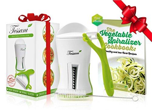 espiralizador-premium-de-verduras-de-tessani-con-cepillo-limpiador-pelador-profesional-y-ebook-con-2
