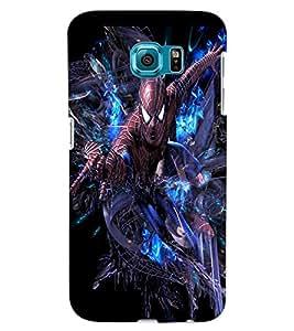 ColourCraft Superhero Design Back Case Cover for SAMSUNG GALAXY S6 EDGE G925