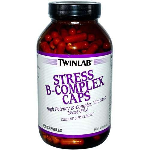 Twinlab - Stress B-Complex High-Potency Caps With Vitamin C - 250 Capsules