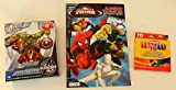 Marvel Ultimate Spider-Man Jumbo Coloring and Activity Book + Jumbo Crayon Pack of Crayons + Marvel Avengers Assemble Shaped Puzzle