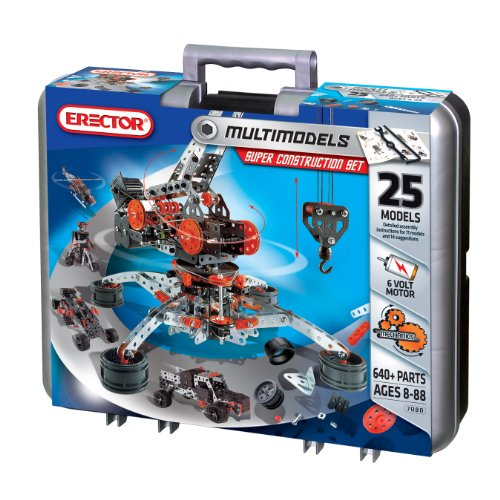 Erector Motorized Racing Car & More - 643 pc Metal Construction Set