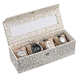 Ecoleatherette Handcrafted Eco Friendly 4 Watch Box, Watch Case, Watch Organizer (Multicolour)