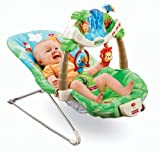 Fisher-Price Jungle Theme Rainforest Bouncer W/ Bright, Stimulating, And Entertaining Toys