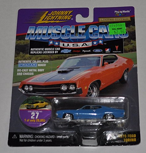 1970 Ford Torino (Blue) #27 - Muscle Cars 1 0f 20,000 - Johnny Lightning - Diecast Car - 1