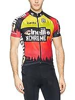 Santini Maillot Ciclismo Cinelli Chrome 16 (Rojo / Negro)