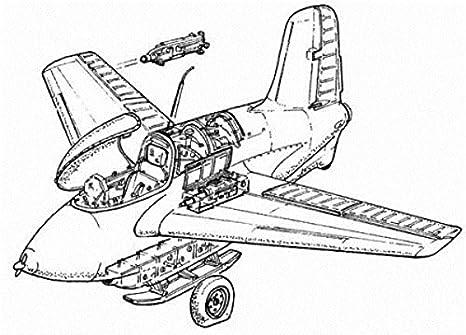 Messerschmitt Me 163B : détails (pour maquettes Academy)