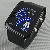 Cosplay Miku Hatsune Vocaloid Watch Blue Light Fan-shaped LED Watch