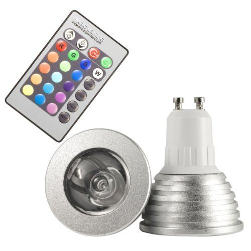 How Nice 3W Gu10 Ld129 16 Colors Changing Rgb Led Light Bulb With 24Keys Remote Control Home Lighting