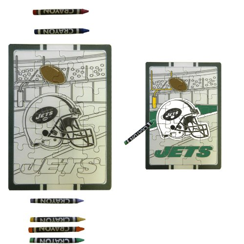 New York Jets Children Fun Color Your Own Puzzle Set