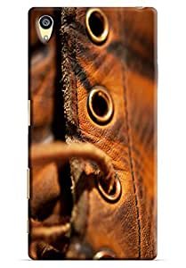 Omnam Leather Shoes Closeup Printed Designer Back Cover Case For Sony Xperia Z5 Premium