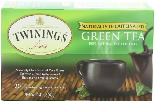 Twinings Green Decaf Tea, 20-Count Tea Bags (Pack of 6)