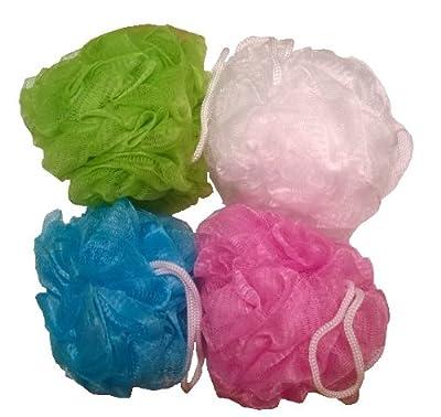 Daylee Naturals Mesh Bath Pouf Sponge 4 Pack