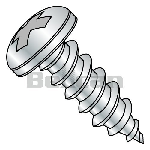 Star Drive Type B 3//4 Length Pack of 100 Pan Head Zinc Plated Steel Sheet Metal Screw #8-18 Thread Size