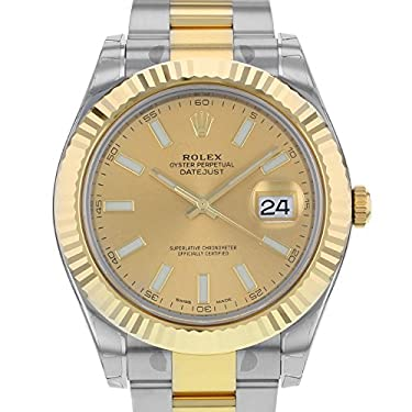 Rolex Datejust II Stainless Steel and 18K Yellow Gold Mens watch 116333 CHIO