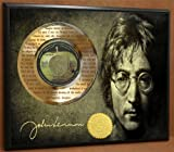 "John Lennon ""Imagine"" Limited Edition Laser Etched Poster Art Gold Record Music Memorabilia Display"