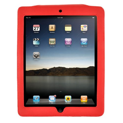MEElectronics Genuine Leather Case for iPad (Red)