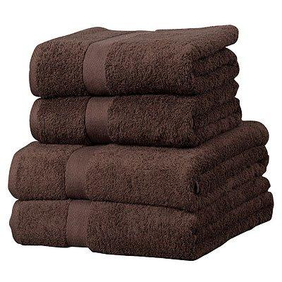linens-limited-gastehandtuch-set-luxor-4-tlg-agyptische-baumwolle-600-g-m-schokolade