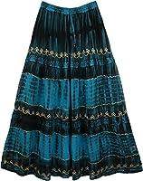 "TLB - Courtesan Blue Gorgeous Skirt - Length:38""; Waist: 26""-38"""