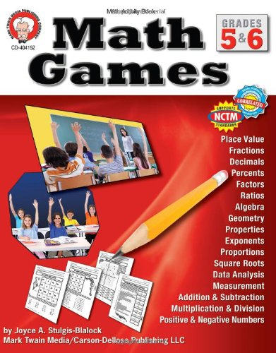 Math Games, Grades 5 & 6