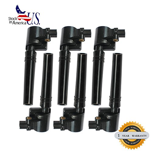 Deal 6pcs Brand New Ignition Coil For Ford Escape Five Hundred Freestyle Taurus/ Mazda Tribute/ Mercury Mariner Montego Sable (8th Vin Digit S Only) 3.0L V6 (Ignition Coil 2002 Ford Escape compare prices)