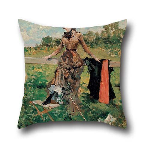 Oil Painting Francisco Miralles - Lady With A Parasol Cushion Cases 20 X 20 Inch / 50 By 50 Cm Best Choice For Study Room,dance Room,divan,bedroom,club,wife With Each Side