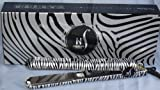 Herstyler Platinum Zebra Hair Straightener Flat Iron with 1.5 Inch Onyx Ceramic