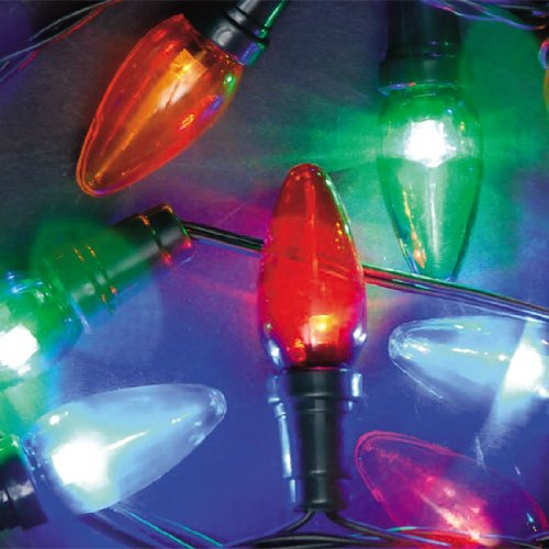 Outdoor christmas lights big bulb ultra bright multi