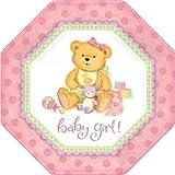 Precious Bear Pink Shaped Dinner Plates, 8ct