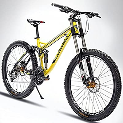 26 Inches Soft Tail Aluminum Alloy Downhill Mountain Bike,Double Oil Disc Brake,Full Suspension