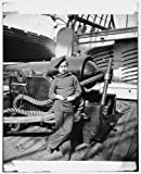 8x12 inch Photographic Print from a high-quality scan of the original.Title: [Powder monkey by gun of U.S.S. New Hampshire off Charleston, S.C.] Date Created/Published: [Between 1864 and 1865] Summary: Photographs of the Federal Navy, and sea...