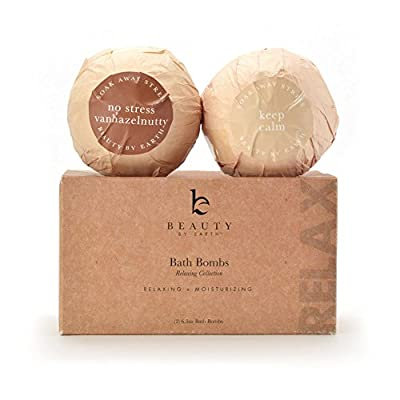 Bath Bombs - Relaxing Collection, USA Made with Organic & Natural Ingredients (Aromatherapy Essential Oils & Salts) - Lush Ball Fizzies - Best Gift Idea - Set of 2 Extra Large XL (6.5oz) Bathbombs