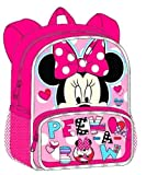 Disney Minnie Mouse 12 Inch Toddler Backpack with Velcro Bows