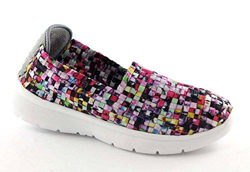 GRUNLAND TIPP SC1917 multicolore scarpe donna sneakers elasticizzata slip on 38