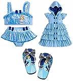 Disney Store Princess Cinderella Swim Set: Swimsuit/Cover Up/Sandals Size Medium