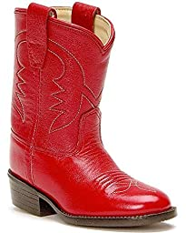 Old West Toddler-Girls\' Cowboy Boot Red 6 D(M) US