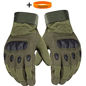 Dopobo® 1 Pair of Sports Fitness Gloves Outdoor Bike Bicycle Cycling Climbiing Army Fans Military Tactical Fighting Full Finger Gloves for Men from Dopobo