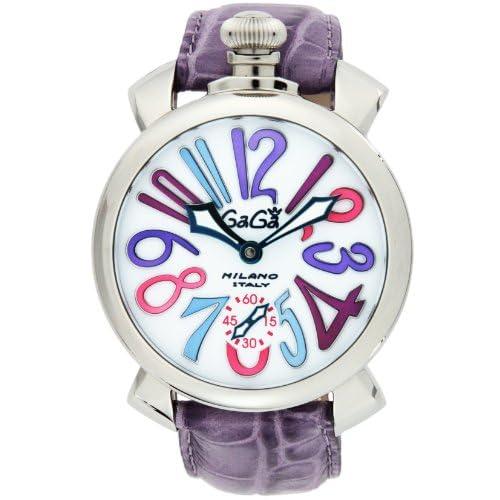 [ガガミラノ]GAGA MILANO 腕時計 マニュアーレ48mm ホワイト文字盤 手巻 スイスメイド カーフ革ベルト スモールセコンド 日常生活防水 5010.09S-PUR メンズ 【並行輸入品】