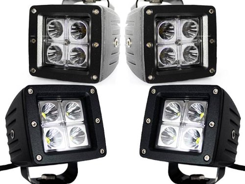 4X Dually Cube 16W Cree Led Spot Fog Driving Trail Light For Off Road Bar Jeep Truck
