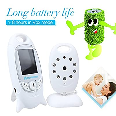 """2.0"""" Color LCD 2-Way Talk Automatic Night Vision Temperature Monitoring Wireless Security Digital Video Baby Monitor Security IR LED Camera"""