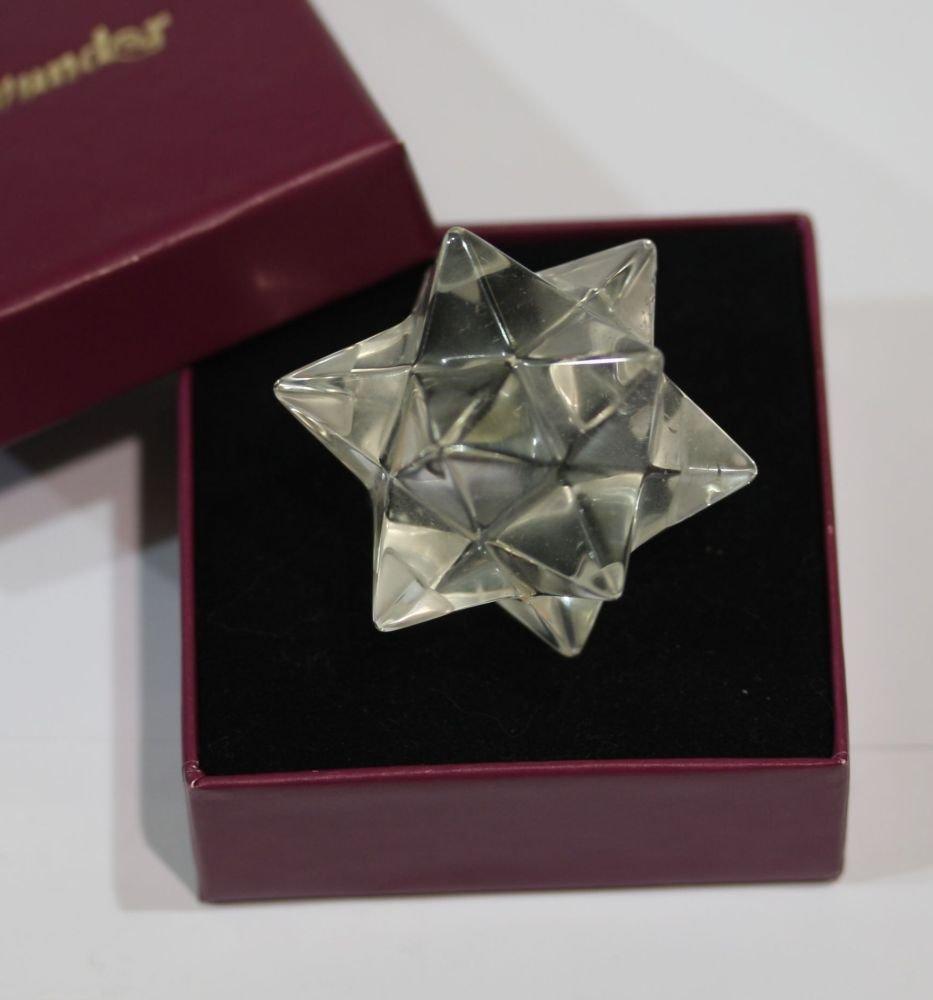 großer Aurelius  Tetraeder  Stern, handpoliert ! aus extraklarem Natur Bergkristall, auch als Zusatz für Plato&sche KörperSets    Kundenbewertungen