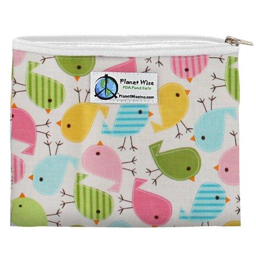 Planet Wise Zipper Sandwich Bag, Chick-a-Dees - 1